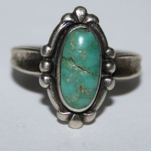 Bell Trading Post Sterling Turquoise ring size 5